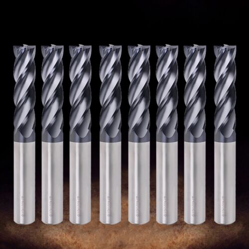Carbide 50mm Length Machine Tools Endmill Cutting 4 Flute Mill Milling Cutter