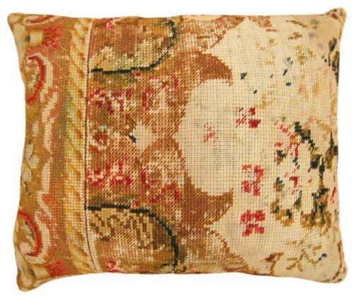 Vintage Decorative English Needlepoint Pillow with FREE SHIPPING!