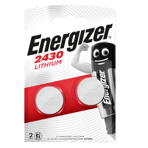 2 x Energizer CR2430 3V Lithium Coin Cell Battery 2430. 0198