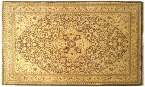 Vintage Indian Agra Oriental Carpet, in Small Size with Fine Weave & Soft Colors