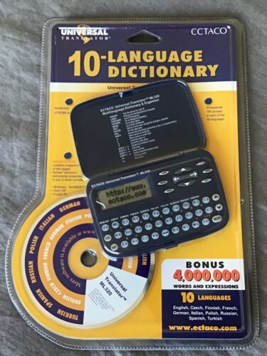Universal Translator 10 Language Dictionary ML320 ECTACO