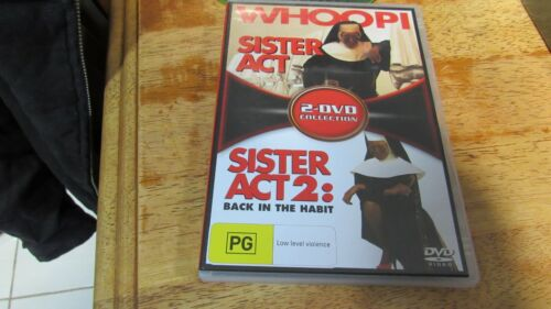 Sister Act / Sister Act 02 -Whoopi (DVD, 2006, 2-Disc Set) FREE Registered Post