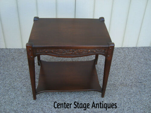 59907   Solid Oak Carved Lamp Table Stand