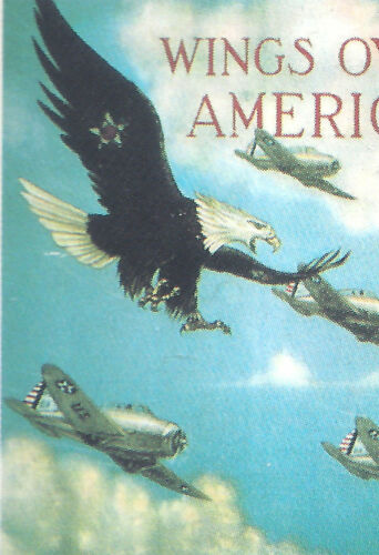 Wings Over America EAGLE Pin from WWII 1940 Recruitment Poster Air Corps / ArmyUnited States - 156437