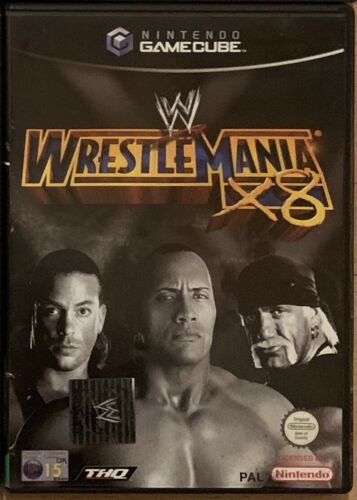 Used Nintendo GameCube WWE Wrestlemania X8 Game PAL Wii Compatible