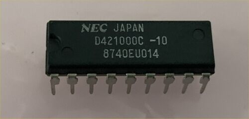 NOS New NEC D421000C-10 1MEG 100ns DRAM Chips Tube of 20pc.  Not Recycle