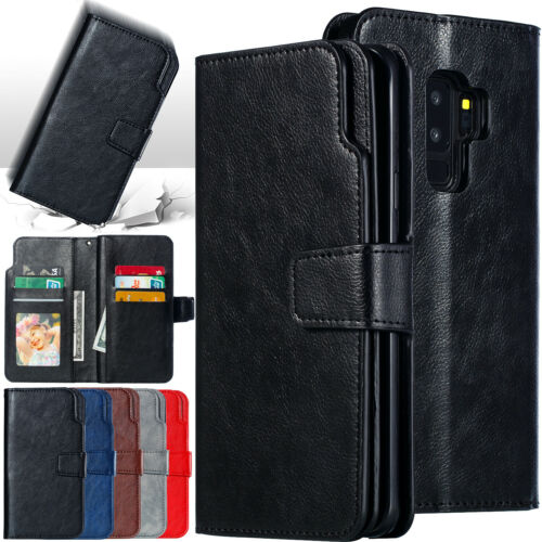 For Samsung Note10 Plus S9 S20 Ultra S8 Magnetic Leather Wallet Phone Case Cover