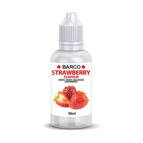 Food Flavour Strawberry 30mL Barco Cake Craft Flavouring Edible Fondant Decorate