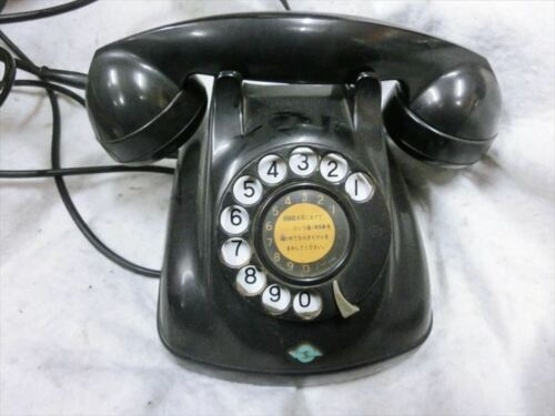USED Black Phone for NTT Showa Antique Vintage Interior Dial 1968 F/S from JAPAN