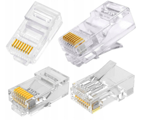 RJ45 LAN CAT5e Cable Crimp End Plug Connector For Network Ethernet 027