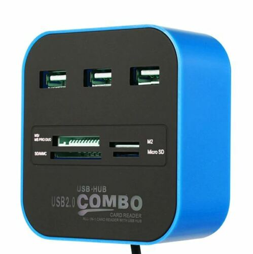 USB Hub 2.0 3 Ports TF Micro SD Card Reader Slot USB Multi USB Splitter PC MAC