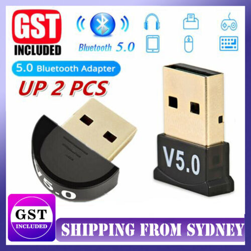 UP TO 2PCS USB Dongle Adapter For Bluetooth V5.0 PC Laptop Computer Receiver AU
