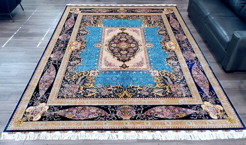 Royal Blue Authentic Persian Rug - Retail $90,000