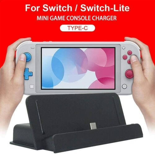Charging Dock Station Stand Charger Holder for Nintendo Switch/Switch Lite