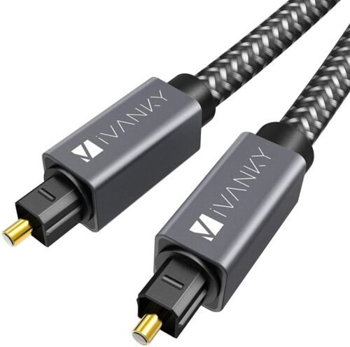 Optical Cable 1.8m | Easy-to-Install Cuboid-Shaped Connectors Optical Cable for