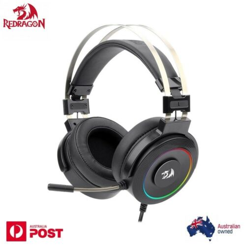 Redragon H320 7.1 Surround Sound Gaming Headset With Mic RGB Backlit LED USB PC