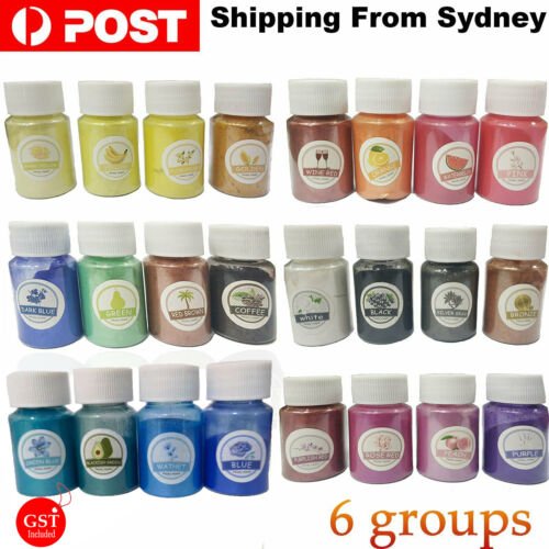 Pearl Pigment Powder for Epoxy Resin Floors Metallic Dye Ultra Mixed Color AU