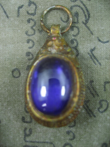 HOLY BLESSED VINTAGE SOMDET TOH WITH PURPLE NAGA EYE TOP RARE THAI BUDDHA AMULET