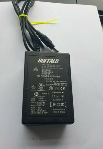 BUFFALO AT7094A 3.3VDC 2A  AC POWER ADAPTER  (IN8s1b3)