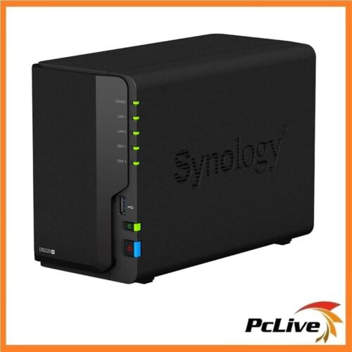 Synology DiskStation DS220+ 2-Bay NAS Network-attached Storage RAID Backup Files