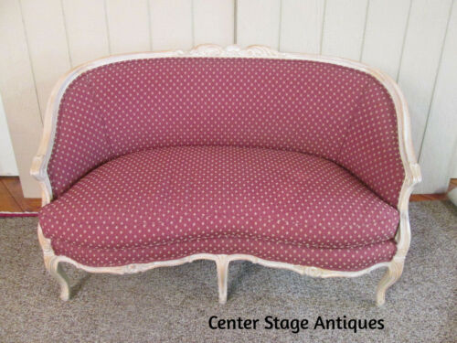 56521   FRENCH COUNTRY CARVED LOVESEAT SETTEE Factory Finish