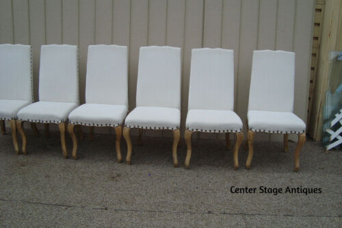 59496  Set of 6 Quality High Back Dining Side Chairs