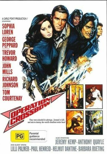 Operation Crossbow DVD George Peppard New and Sealed Australia