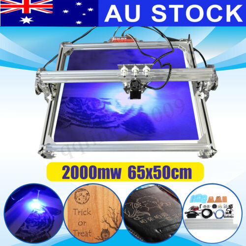 AU 2000MW 65*50cm Laser Engraving Engraver Logo Carver Marking Printer Cutter <br/> Sydney Stock√ 2-Axis√ w/ Goggles√ XP/Win 7/Win 10√