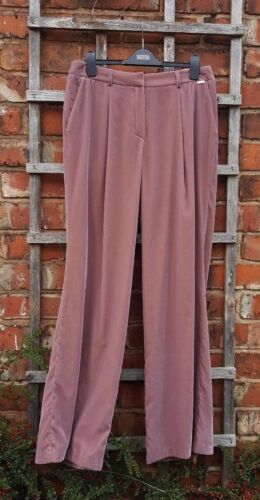 BNWT Marks & Spencer Per Una Blush Velvet Wide Mid Rise Trousers (12) RRP £49.50