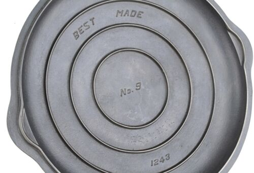 Vintage Griswold Best Made No 9 (1243) Cast Iron Skillet Cover Seasoned Cond