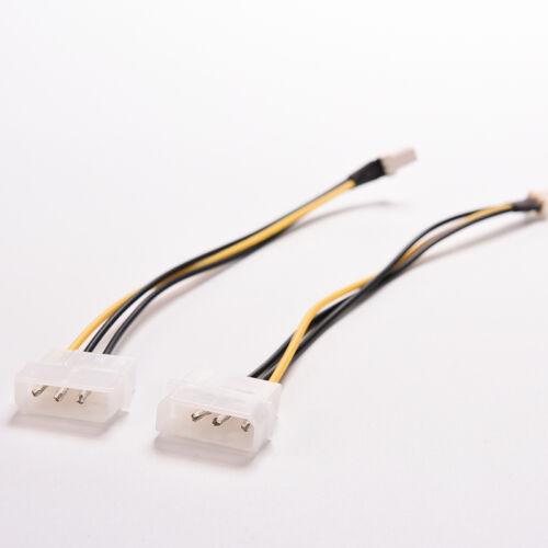 1X 4-Pin Molex/IDE to 3-Pin CPU/Case Fan Power Connector Cable Adapters 20cm.ji
