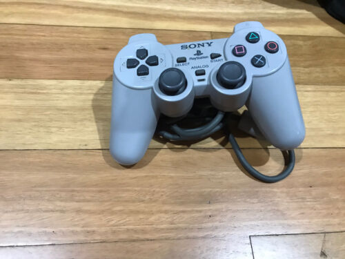 Genuine Sony PlayStation PS1 Grey DualShock Controller, Tested, Good Condition