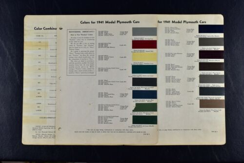 1941 PLYMOUTH PAINT CHIPS