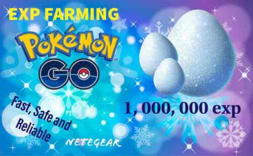 Pokemon Go EXPERIENCE GAIN ✔ 1,000,000 ✔Exp Farming✔ Fast 'n' Safe 🔥🔥