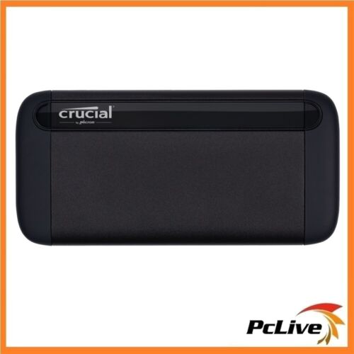 Crucial X8 2TB External Portable SSD USB3.2 USB-C Durable Rugged Shock Proof