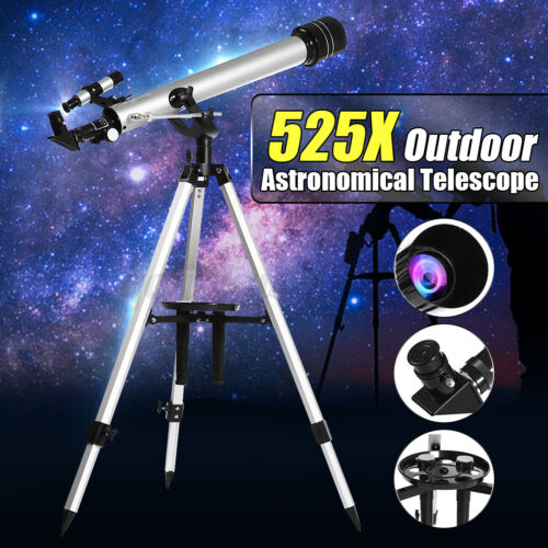 F60700 525X High Magnification Astronomical Refractive Telescope High Tripod