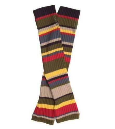 DOCTOR WHO 4th Doctor (Tom Baker) - Scarf Style Colors Long Knitted Arm Warmers