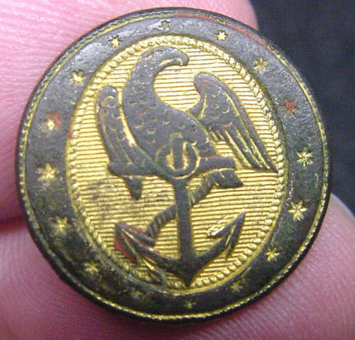 # 108, EARLY NAVY COAT BUTTON CA 1820-Original Period Items - 4070