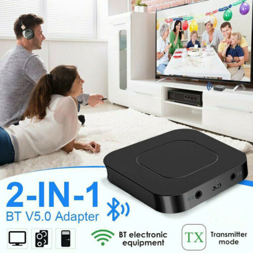 Bluetooth 5.0 Transmitter 2 IN 1 Wireless Audio Adapter 3.5MM Jack Aux Receiver