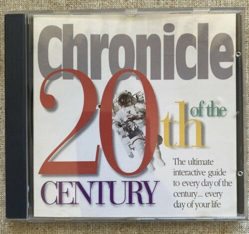 Chronicle Of The 20th Century CD Rom Disc PC Windows 1996