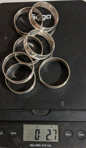 Lot # 218 Sterling Silver Napkin Rings (7) Total 2.7 OUNCES