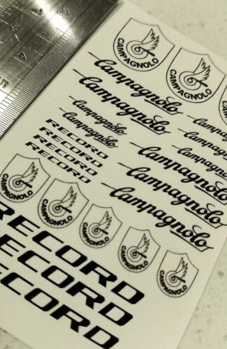 Replacement waterslide decal kit for Campagnolo group set record c derailleur