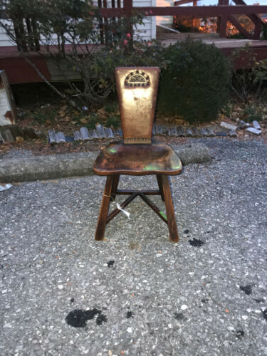 ANTIQUE  Arts &Crafts side chair with original leather w5000 Stickley era
