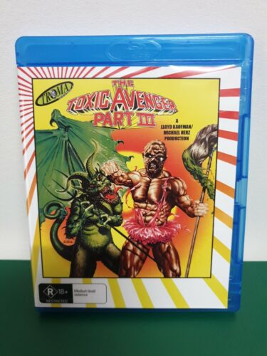 THE TOXIC AVENGER PART III BLU RAY - R18+ - TROMA.  **RARE**  FREE POST IN AU