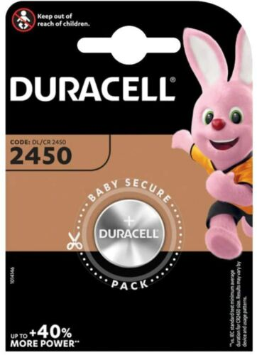 Battery Duracell CR2450 3V Lithium Coin Cell Batteries 2450. 057