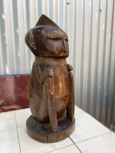A Large and Superb Old Trobriand Island Massim Carved Figure - New Guinea
