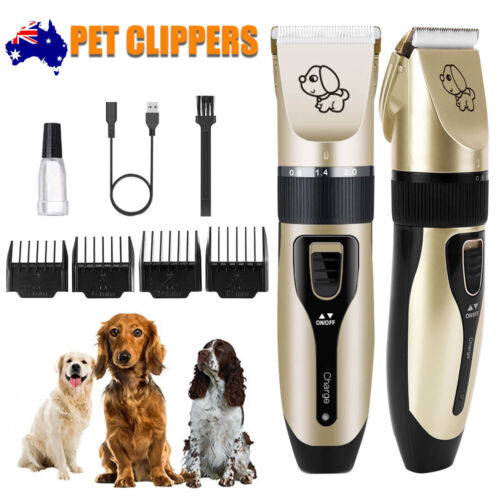 Cordless Electric Silent Clipper Pet Cat Dog Hair Trimmer Rechargeable Comb Kits