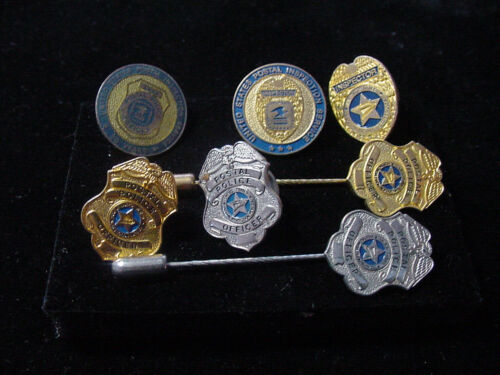 Vintage lot of 7 united states postal services lapel pin and stick pin