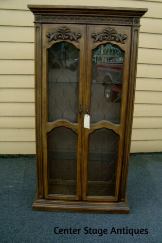 57236   Fancy  Modern Curio China Cabinet with Light