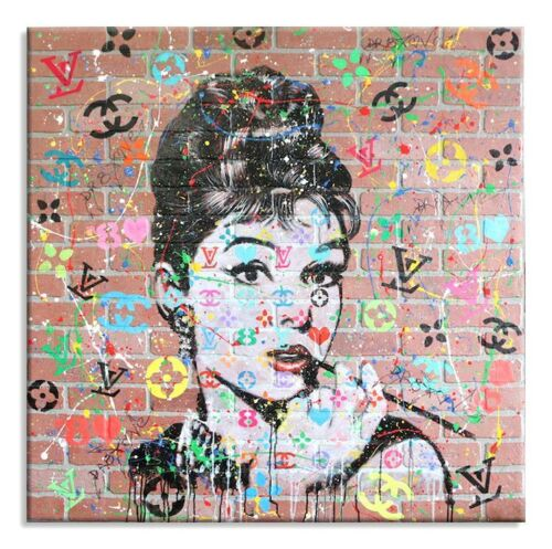 """"""" Audrey 8 Love """",Limited Edition 26/50, canvas, Signed, Chanel, Louis vuitton,"""